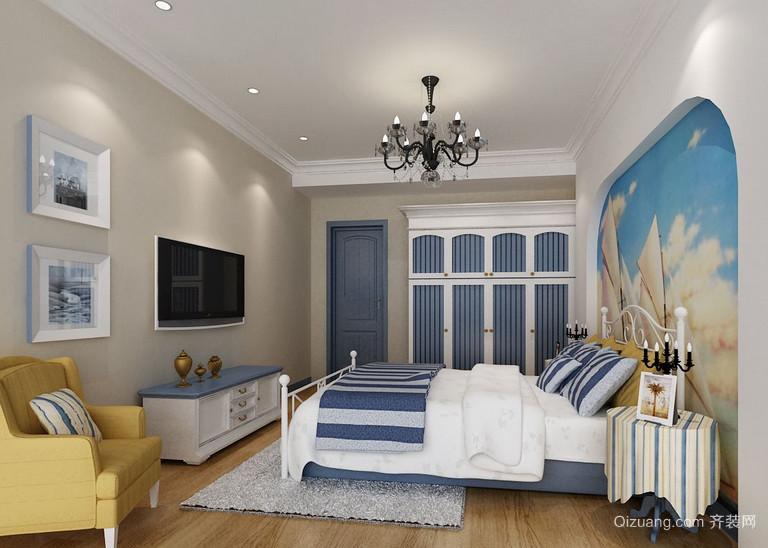 2015大户型地中海风格卧室装修效果图鉴赏