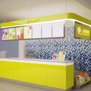 购物商城小型现代简约风格奶茶店装修效果图
