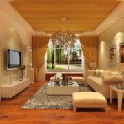2016现代主义风格小户型客厅装修效果图欣赏