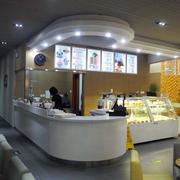 50平米简约冰淇淋店吧台装修效果图