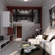 单身公寓客厅图片