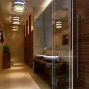 大型饭店奢华简欧风格公共洗手间装修效果图