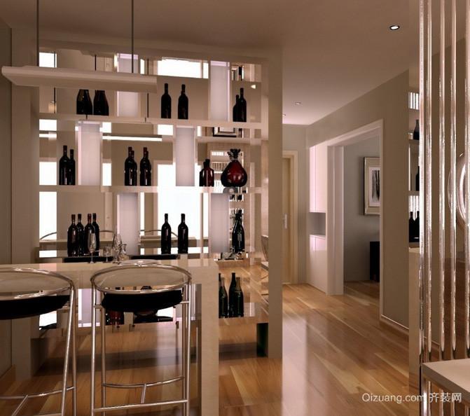 单身公寓美观系列酒柜效果图片