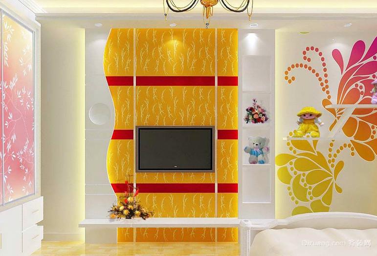 138平米梦幻型客厅电视背景墙效果图