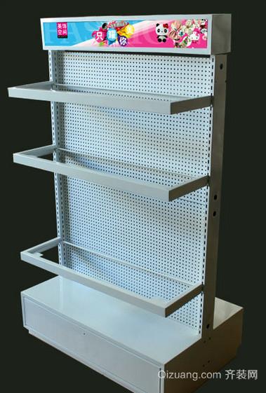 小户型现代简约风格饰品店三层货架装修效果图