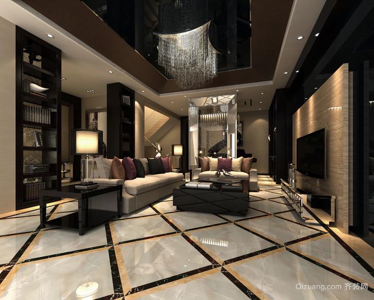 精致大户型后现代装修风格客厅效果图鉴赏