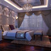 欧式奢华卧室背景墙装饰