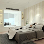 30平米现代简约风格公寓卧室装修效果图