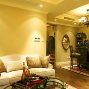 2016美式橙色小型复式楼房间装修图片