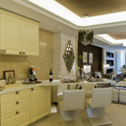 80平米小户型现代简欧风格厨房装修效果图