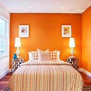 50平米小户型卧室橙色房间装修图片