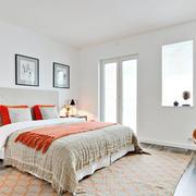 淡雅大户型:水木清华之美式卧室床头背景墙