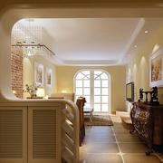 大型别墅欧式简约风格玄关装修效果图