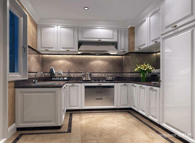 30平米欧式风格厨房样板间装修效果图