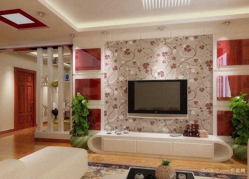 欧式大户型客厅背景墙装修效果图实例欣赏