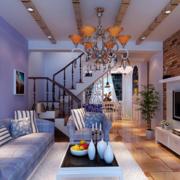 2016大户型地中海风格客厅装修效果图实例