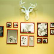 别墅自然风格照片墙设计效果图