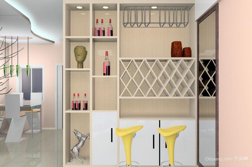 大户型韩式风格酒柜效果图片