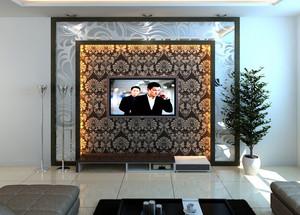 小户型时尚风格客厅电视背景墙效果图