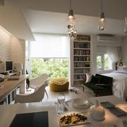 简约风格单身公寓图片