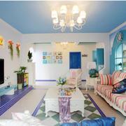 公寓蓝色吊顶图片