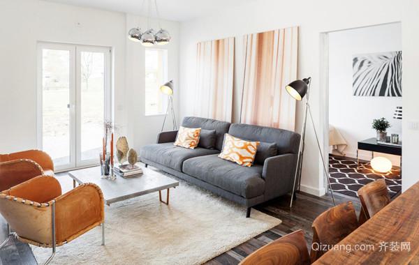90平米新古典小公寓装修实例效果图