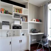 2016大户型现代书房书柜设计装修效果图鉴赏