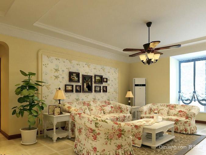 100平米田园风格客厅家具装修图片