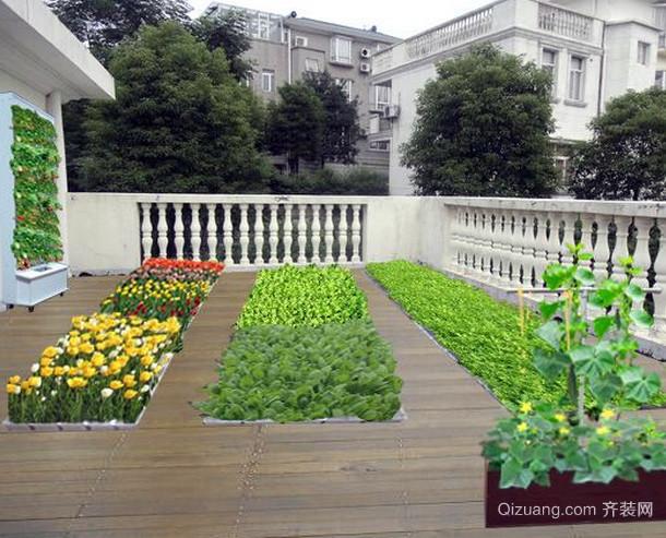 韩式简约风格小洋楼阳台菜园装修效果图