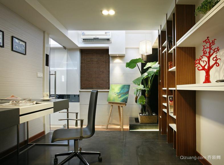 都市家庭大户型现代小书房装修效果图鉴赏