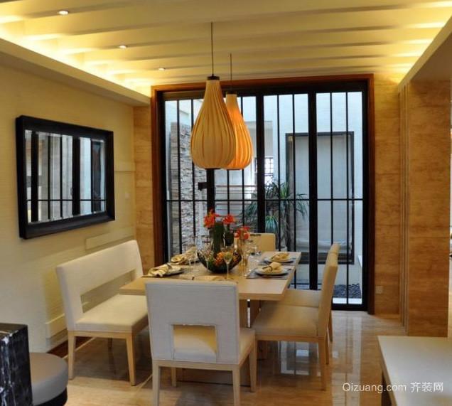 别墅自然风格餐厅背景墙效果图