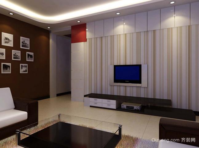 138平米精致型客厅电视背景墙效果图