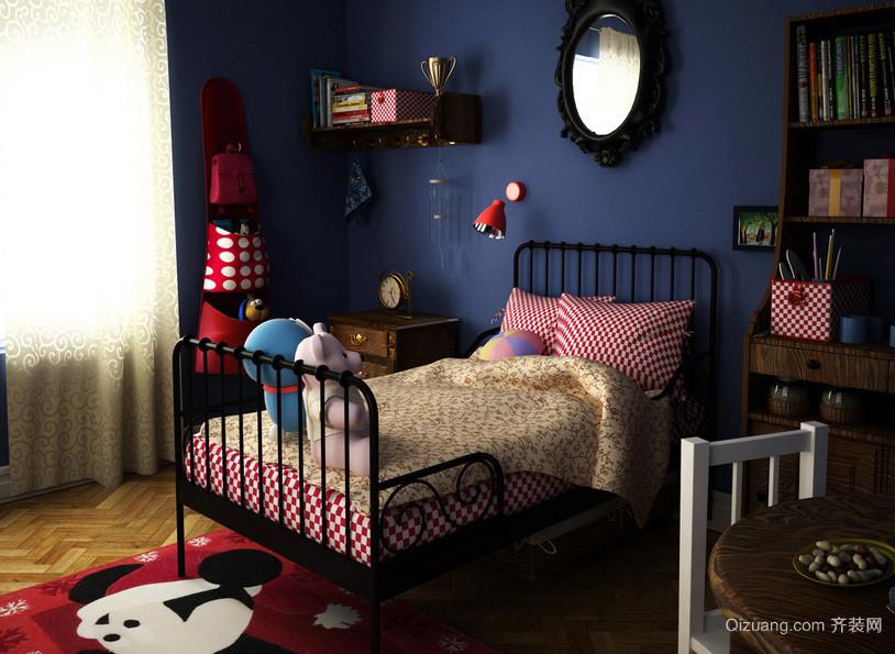 深色混搭小户型儿童房装修设计效果图