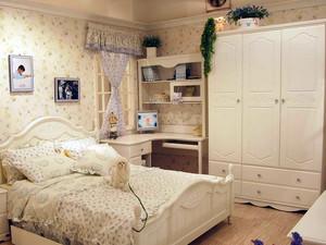 30平米欧式田园风格卧室家具装修效果图