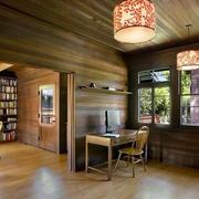 美式原木别墅客厅装饰