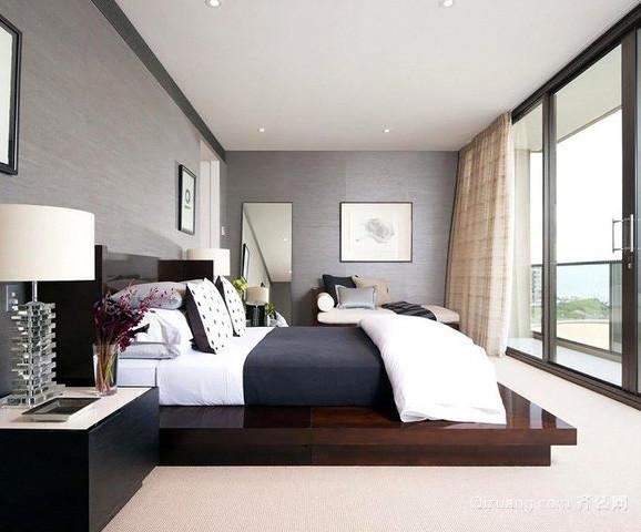 单身公寓现代简约风格卧室装修效果图