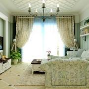 田园风格80平米客厅家具装修图片