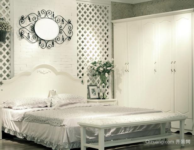 30平米欧式别墅卧室家具装修效果图