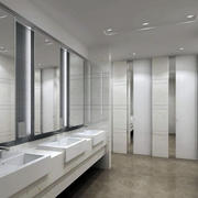 现代简约风格景点公共洗手间装修效果图
