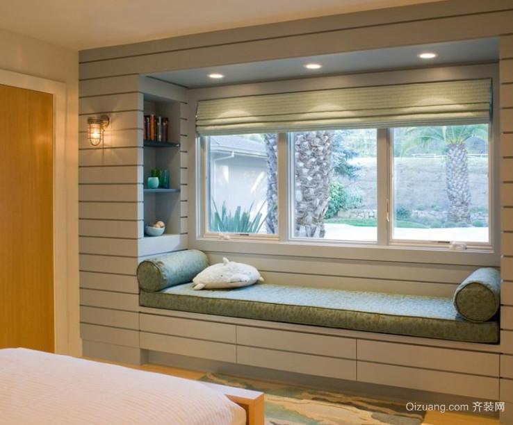 70平米精美的小户型欧式飘窗装修效果图鉴赏