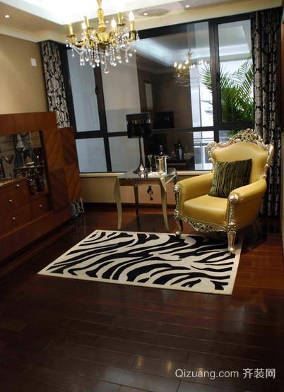 80平米法式风格样板间客厅装修效果图