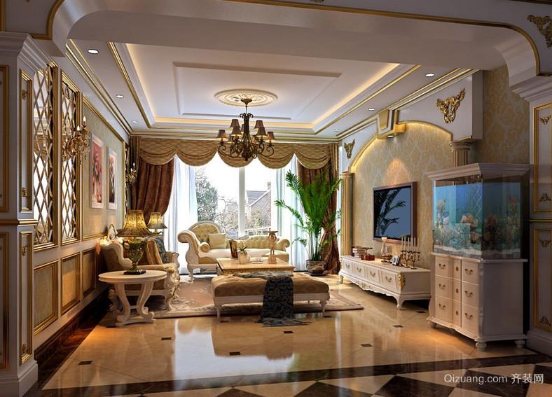 90平米时尚大户型现代简约客厅装修效果图