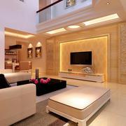 120平米创意型客厅电视背景墙效果图