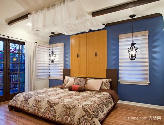 30平米地中海风格卧室衣柜装修效果图