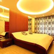 时尚橙色120平米房间卧室装修图片