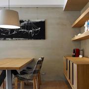 公寓原木色餐厅欣赏