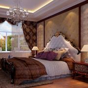 欧式别墅卧室背景墙装饰
