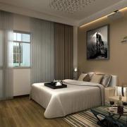 128平米欧式风格飘窗窗帘效果图