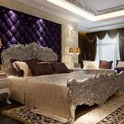欧式奢华紫色系卧室背景墙装饰