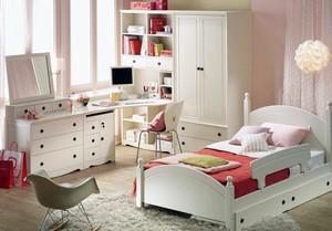 欧式风格儿童房水曲柳实木家具装修图